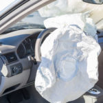Airbag inflated as a result of a car crash