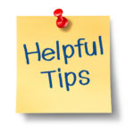 Helpful tips and advice on a yellow office note