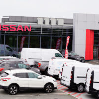 Bordeaux , Aquitaine / France - 10 17 2019 : Nissan car sign dealership store showroom building